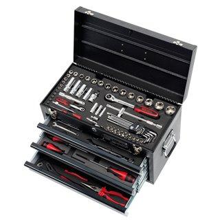Coffre à outils Ultimate équipé - 3 tiroirs et plateau - 100 pcs