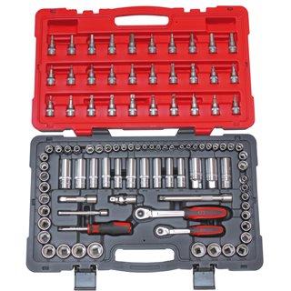 Coffret de douilles et accessoires ULTIMATE® 1/4'' - 3/8'' pouces et métrique, 99 pièces