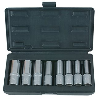 """Coffret de 8 douilles TORX®, L.75 mm -  1/2"""" - E10 à E24"""""""