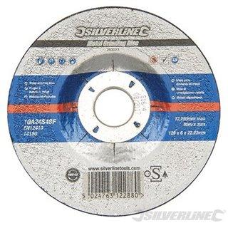 Disque à tronçonner le métal certifié OSA - 125 x 6 x 22,23 mm