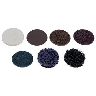 Disque de ponçage brun 50,0 mm - papier de verre - Grains 80