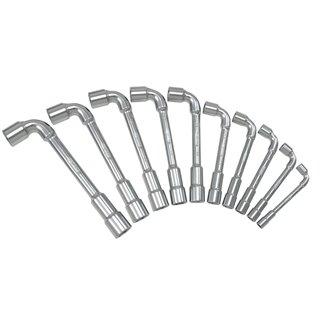 Jeu de 12 clés à pipe débouchées métriques - 6 pans - en boîte