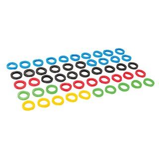 Lot de 50 couvre-clés de couleurs assorties - Lot de 50