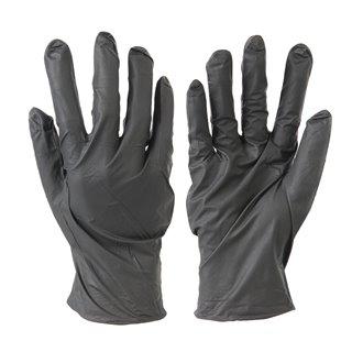 100 gants nitrile non poudrés jetables - Noir Medium