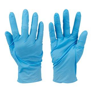 100 gants nitrile non poudrés jetables - Bleu, medium