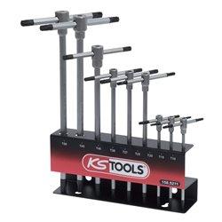 Présentoir de clés TORX à poignée en T, 9 pièces