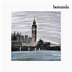 Cadre Huile Londres (100 x 100 cm) by Homania