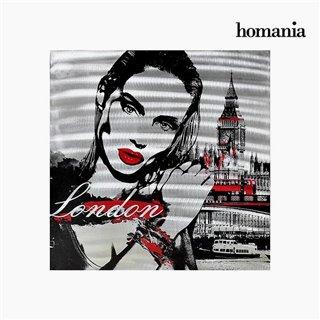 Cadre Huile Femme à Londres (80 x 80 cm) by Homania