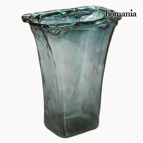 vase en verre recycl gris transparent collection crystal colours deco by homania. Black Bedroom Furniture Sets. Home Design Ideas