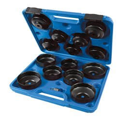 Kit de cloches pour filtres à huile, 15 pcs - 65 - 93 mm