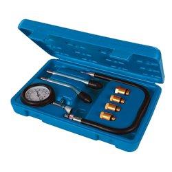 Kit de test de compression pour moteur essence, 8 pcs - 0 – 20 kPa / 0 – 300 psi