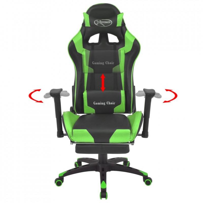 Peachy Details Sur Vidaxl Chaise De Bureau Inclinable Avec Repose Pied Vert Lamtechconsult Wood Chair Design Ideas Lamtechconsultcom
