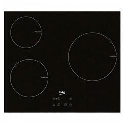 Plaque à Induction BEKO 220328 7200W 60 cm Noir Verre