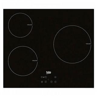 Plaque à Induction BEKO 220328 7200W 60 cm Noir Verre