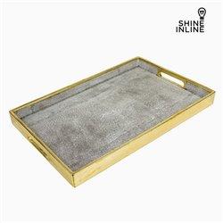 Plateau Résine Gris (51 x 33,5 x 4 cm) by Shine Inline