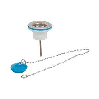 Bonde d'évier avec bouchon et chaînette - 32 mm