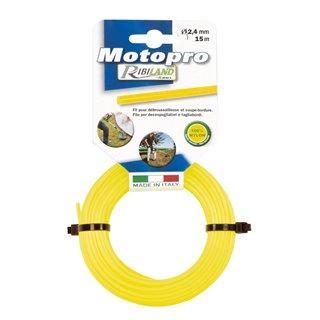 """Fil rond diam.2,4 mm x 50m jaune """"MOTOPRO"""""""