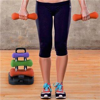Jeu d'Haltères avec Support pour Fitness