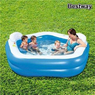 Pataugeoire gonflable pour enfants Bestway 54153 575 L (213 x 207 x 69 cm)