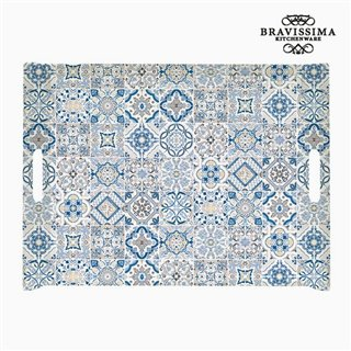 Plateau Porcelaine Bleu by Bravissima Kitchen