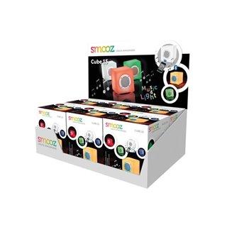 Présentoir Avec 6 X Smooz Cube 15 - Lampe Rgb Rechargeable Avec Haut-Parleur Bluetooth