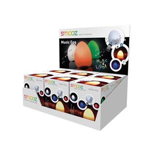Présentoir Avec 6 X Smooz Music Egg - Lampe De Table Rgb Rechargeable