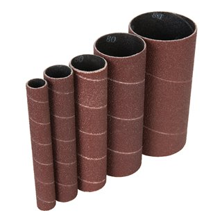 Manchons de ponçage corindon 5 pcs - 5 manchons de ponçage TSPSS80G5PK grains 80