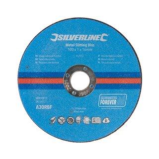 Lot de 10 disques à découper le métal - 100 x 1 x 16 mm