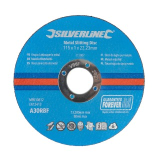 Lot de 10 disques à découper le métal - 115 x 1 x 22,23 mm
