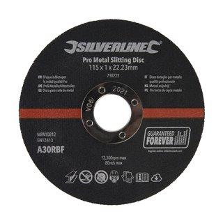 Lot de 10 disques à découper le métal qualité Pro - 115 x 1 x 22,23 mm