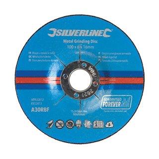 Lot de 10 disques à meuler le métal - 100 x 6 x 16 mm