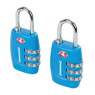 Jeu de 2 cadenas à bagages TSA - Combinaison à 3 chiffres