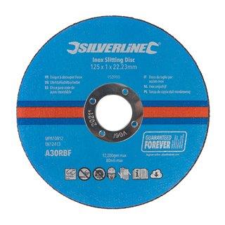 Lot de 10 disques à découper l'inox - 125 x 1 x 22,23 mm