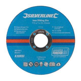 Lot de 10 disques à découper l'inox - 115 x 1 x 22,23 mm