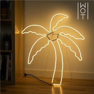 Palmier LED avec Chevalet Wagon Trend