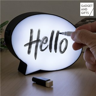 Lampe LED Bulle de Dialogue avec Marqueur Gadget and Gifts