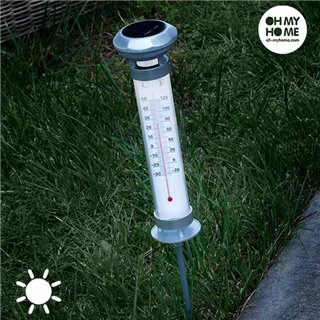 Lampe Solaire Thermomètre Oh My Home