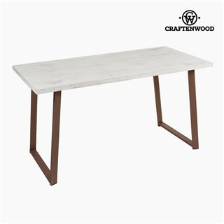 Bureau Bois de pin Blanc (140 x 70 x 75 cm) by Craftenwood