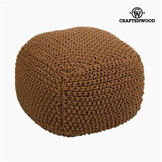 Pouf Coton Marron (50 x 50 x 40 cm) by Craftenwood
