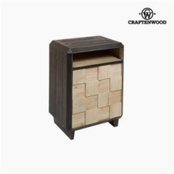 Table de Nuit Sapin Mdf (69 x 50 x 38 cm) by Craftenwood