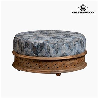 Pouf Bois de manguier Vintage (90 x 90 x 40 cm) by Craftenwood