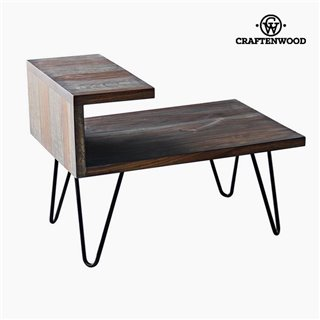 Table de Nuit Bois de manguier (40 x 40 x 45 cm) by Craftenwood