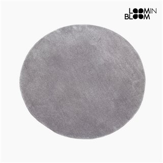 Tapis Acrylique Gris (90 x 90 x 3 cm) by Loom In Bloom
