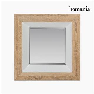 Miroir Dm Vere biseauté Bois Blanc (67 x 7 x 67 cm) by Homania