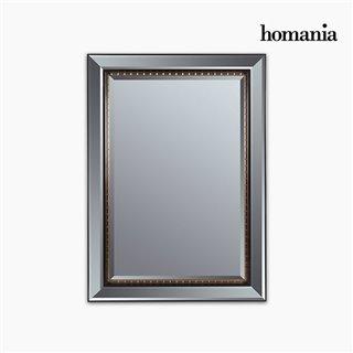 Miroir Résine synthétique Vere biseauté Noir Or (80 x 4 x 110 cm) by Homania