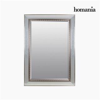 Miroir Résine synthétique Vere biseauté Argent (80 x 4 x 110 cm) by Homania