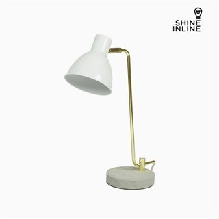 Lampe de bureau Blanc Aluminium Béton (30 x 15 x 46 cm) by Shine Inline