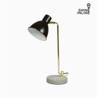 Lampe de bureau Noir Aluminium Béton (30 x 15 x 46 cm) by Shine Inline