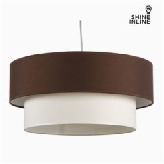 Suspension Marron Blanc Coton et polyester (20 cm) by Shine Inline