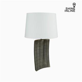 Lampe de bureau Argent Céramique (34 x 9 x 61 cm) by Shine Inline